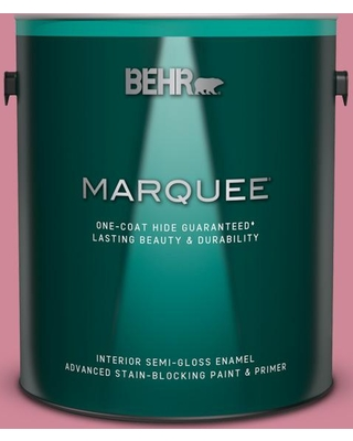 BEHR MARQUEE 1 gal. #M140-4 Fruit Cocktail Semi-Gloss Enamel Interior Paint and Primer in One