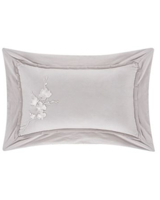 Piper & Wright Cherry Blossom Boudoir Throw Pillow in Grey