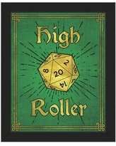 """Click Wall Art High Roller Framed Painting Print on Canvas in Emerald GRM0000129FRM Size: 26.5"""" H x 22.5"""" W Format: Black Framed"""