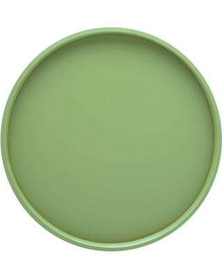 Kraftware Bartenders Choice Fun Colors 14 in. Round Serving Tray in Mist Green