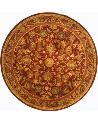 Safavieh Antiquity Wine/Gold (Red/Gold) 4 ft. x 4 ft. Round Area Rug