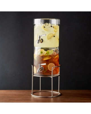 Stacking Drink Dispenser with Silver Stand
