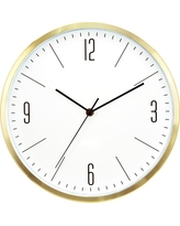 Wall Clock Brass 6 - Threshold