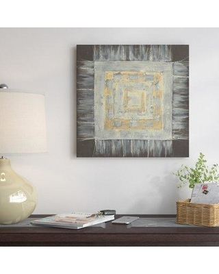 """East Urban Home Gold Tapestry II Painting Print on Wrapped Canvas USSC5553 Size: 12"""" H x 12"""" W x 0.75"""" D"""