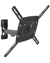 Barkan 29 - 65 inch Full Motion - 3 Movement TV Wall Mount Black Touch & Tilt Screen Leveling 10 Year Warranty