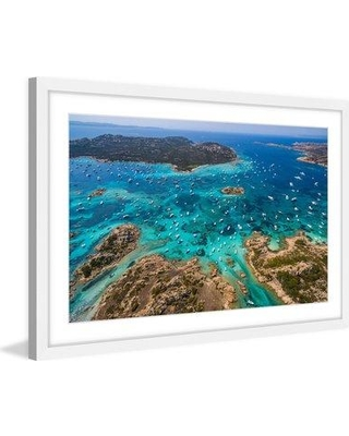 """Marmont Hill 'Boat Party' by Francesco Cattuto Framed Photographic Print MH-FRACAT-03-WFP- Size: 20"""" H x 30"""" W x 1.5"""" D"""