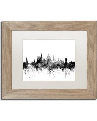 "Trademark Fine Art 'Oxford England Skyline B&W' Framed Graphic Art MT1008-T1114MF / MT1008-T1620MF Size: 11"" H x 14"" W x 0.5"" D"