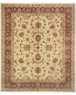"""One-of-a-Kind Romona Hand-Knotted Beige/Brown 8'4"""" x 9'11"""" Wool Area Rug"""