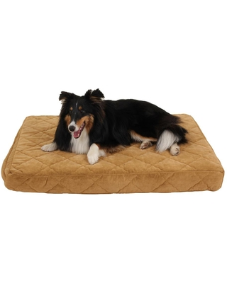 Small Protector Pad Quilted Orthopedic Jamison Pet Bed - Carmel