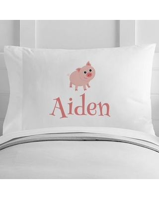 Personalized Pig Toddler Pillow Case