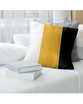 Amazing Deal On Los Angeles La Basketball Striped Pillow East Urban Home Color Gold Black White Size 16 X 16