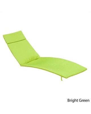 Salem Outdoor Chaise Lounge Cushion (Set of 2) by Christopher Knight Home (Bright Green - Modern & Contemporary)