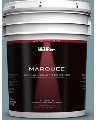 BEHR MARQUEE 5 gal. #530F-5 Waterscape Flat Exterior Paint and Primer in One