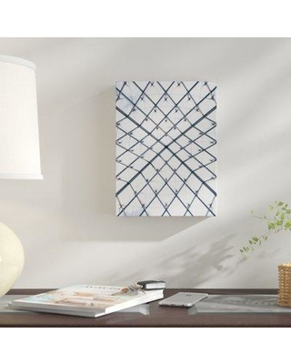 """East Urban Home 'Abstract Shape Patterns' Graphic Art Print on Canvas BI059240 Size: 8"""" H x 8"""" W x 2"""" D"""