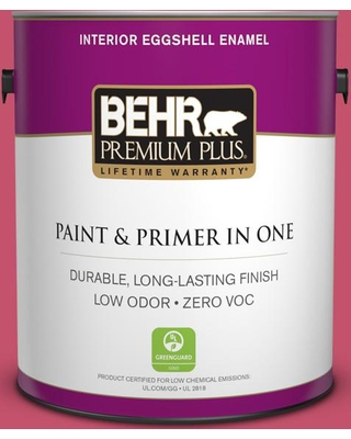 BEHR Premium Plus 1 gal. #120B-7 Tropical Smoothie Eggshell Enamel Low Odor Interior Paint and Primer in One