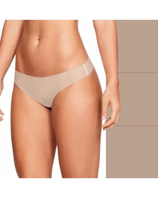 afec2ce608a7 Women's Under Armour 3-pack Pure Stretch Thong Panty, Size: XL, Beige