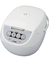 Tiger Corporation JBV-A10U-W 5.5-Cup Micom Rice Cooker with Food Steamer and Slow Cooker, White