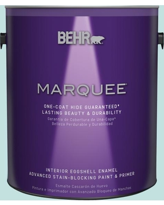 BEHR MARQUEE 1 gal. #T17-04 Peek a Blue Eggshell Enamel Interior Paint and Primer in One