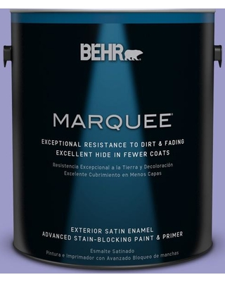 BEHR MARQUEE 1 gal. #630B-5 Majestic Violet Satin Enamel Exterior Paint and Primer in One