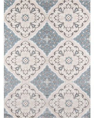 "Ivory Medallion Loomed Area Rug 3'11""x5'7"" - Momeni, White"