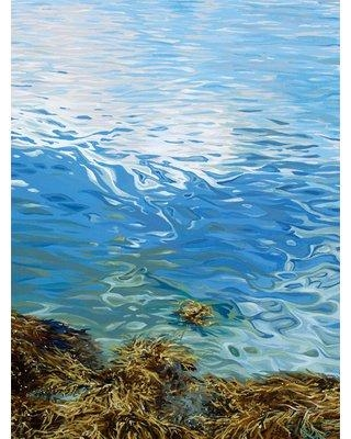 """GreenBox Art 'Seaweed' by Emily Drummond Print of Painting on Canvas NB5561 Size: 18"""" H x 14"""" W x 1.5"""" D"""