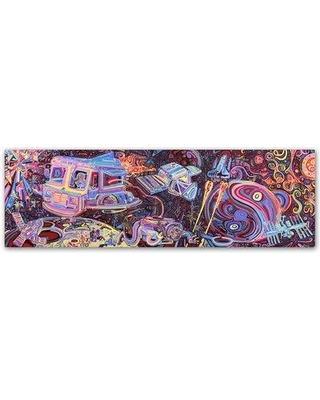 """Trademark Art 'Sunny Side Up' Graphic Art Print on Wrapped Canvas ALI5646-C Size: 6"""" H x 19"""" W x 2"""" D"""