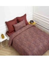 Madura Isadora Duvet Cover 160 Color: Paprika, Size: Full/Queen