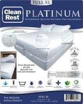 CleanRest Platinum Polyester Mattress Pad 845168007955 Bed Size: Extra-Long Full