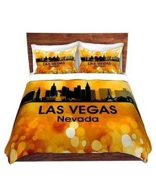 East Urban Home City III Los Angeles California Duvet Cover Set W000726644 Size: 1 Queen Duvet Cover + 2 Standard Shams