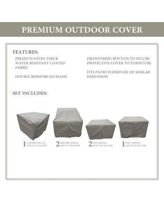 TK Classics Forence Water Resistant 6 Piece Patio Sofa Cover Set FLORENCE-06fWC / FLORENCE-06fWC-GRY Color: Gray