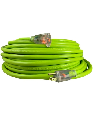 USW 50 ft. 12/3 Cold Weather Extension Cord, Safety Green