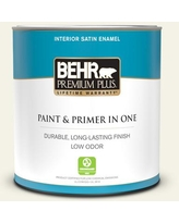 Sales On Behr Premium Plus 1 Qt Bxc 50 Stucco White Satin Enamel Low Odor Interior Paint And Primer In One