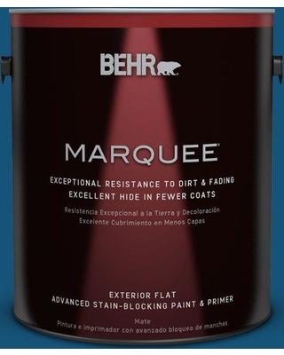 BEHR MARQUEE 1 gal. #S-H-560 Royal Breeze Flat Exterior Paint and Primer in One