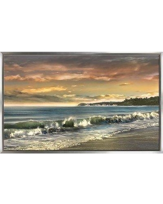 "Highland Dunes 'Warm Sunset' Print BF130793 Size: 27.5"" H x 43.5"" W x 2"" D Format: Floater Framed"