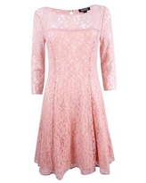 SL Fashions Women's Sequined Lace Fit & Flare Dress