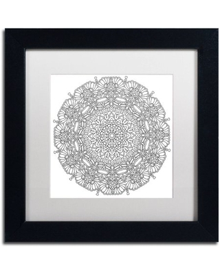 "Trademark Fine Art ""Mixed Coloring Book 16"" Canvas Art by Kathy G. Ahrens, White Matte, Black Frame"