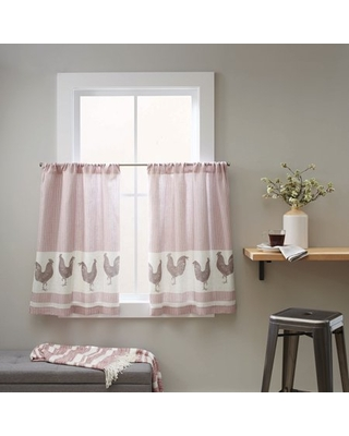 Better Homes & Gardens Curtain Tier, Rooster/Rose - Set of (2)