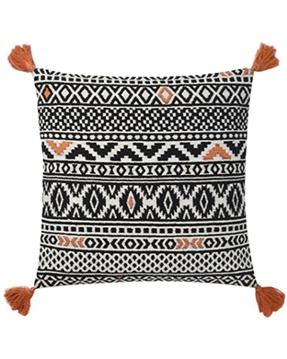 """Loloi P0637 Pillow Cover with Poly Fill, 18"""" x 18"""", Multi"""