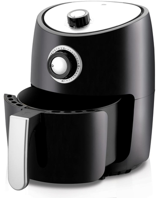 NutriChef Black Countertop Air Fryer Oven Cooker Healthy Kitchen Convection Air Fry Cooking