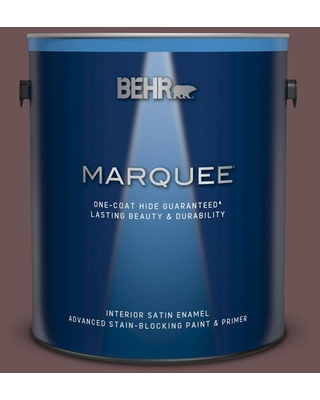 BEHR MARQUEE 1 gal. #720B-6 Beechwood Satin Enamel Interior Paint and Primer in One