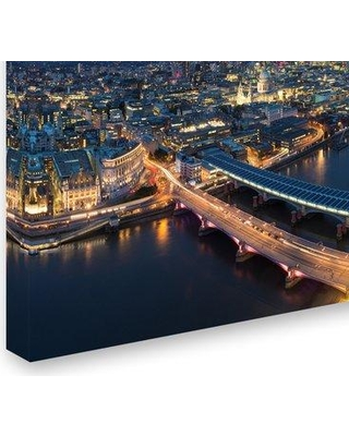 """Trademark Fine Art 'Cityscape 5' Photographic Print on Wrapped Canvas, Canvas & Fabric in Brown, Size 12"""" H x 19"""" W 