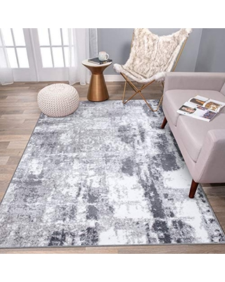 "Rugshop Contemporary Abstract Distressed Area Rug 3'3""x 5' Gray"