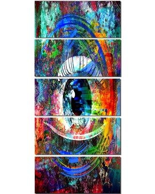 Design Art 'Magic Eye Over Abstract Design' 5 Piece Graphic Art on Wrapped Canvas Set PT13410-401V