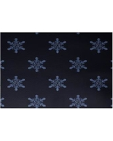 The Holiday Aisle Flurries Decorative Holiday Print Navy Blue Indoor/Outdoor Area Rug HLDY5871 Rug Size: Rectangle 2' x 3'