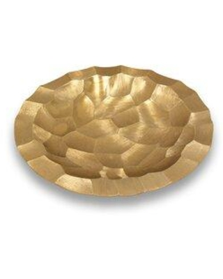 """Mercer41 Norberto Metal Decorative Plate X114488883 Color: Gold Size: 2"""" H x 16"""" W x 16"""" D"""