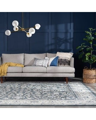 Alise Rugs Carrington Traditional Floral Area Rug (8'9'' x 12'3'' - Gray)