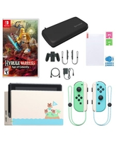 Animal Crossing Edition Nintendo Switch with Hyrule Warriors: Age of Calamity and Accessories