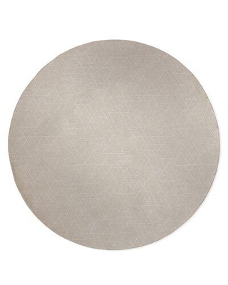 Wrought Studio Nolia Intersecting Triangles Light Gray Area Rug W001543564 Rug Size: Round 5'