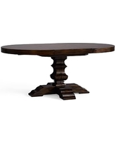 Banks Extending Pedestal Dining Table, Medium, Alfresco Brown finish