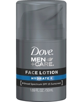 Dove Men+Care Hydrate+ Face Lotion 1.69 oz, Hydrate